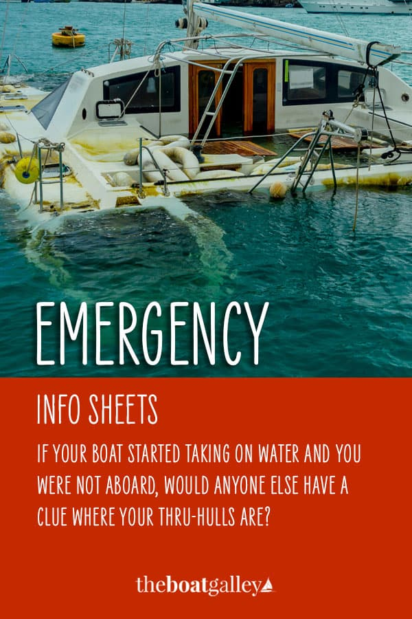 How to provide the information needed for someone else to rescue your boat in an emergency. It costs less than $5 and only takes a couple hours to put together, but could save your boat some day.