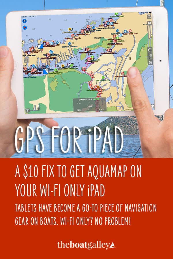 Step-by-step how to use your phone's GPS information on a wifi-only iPad (without GPS) with AquaMap. Cost: less than $10 vs. $100 for external GPS.