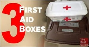 Space is precious on a boat. Why would you want more than one first aid box?