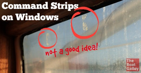 Command Strips On Windows The Boat Galley