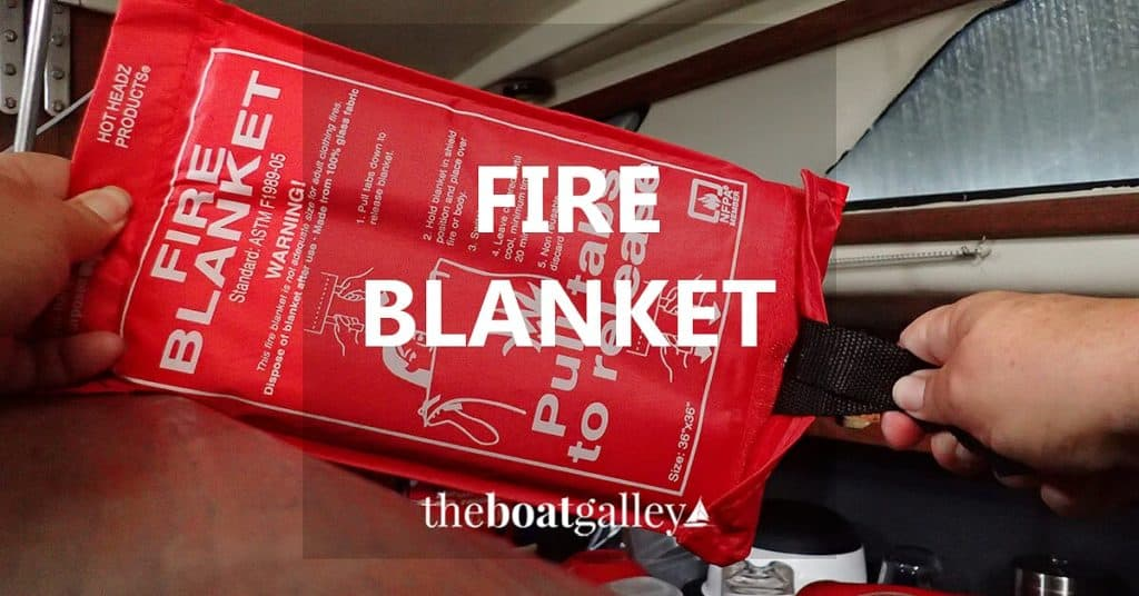 For many cooking fires, a fire blanket will do a better job of extinguishing it without all the mess to clean up. Take a look . . .