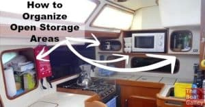 Reader ideas: how to organize those big open storage areas so things don't go flying when underway. Add your thoughts and check out what others have done!