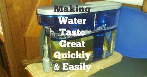 We needed a way to quickly have good tasting water without having to go buy it. The PUR dispenser doesn't just make good water, it's great!