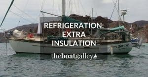 Four simple and inexpensive ideas for improving your boat or RV refrigerator -- save power without rebuilding your refrigerator or getting a new one.
