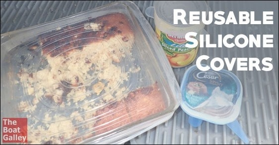 Reusable silicone covers for partially-used cans, leftovers and food storage provide a better seal to keep food fresh, plus use less foil and plastic wrap.