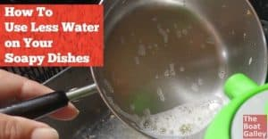 Water is precious but you have to get the soap off the dishes. Use noticably less water with this tip!