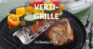 Need more room on your way-too-small boat grill? The VertiGrille is like having a grill extender!